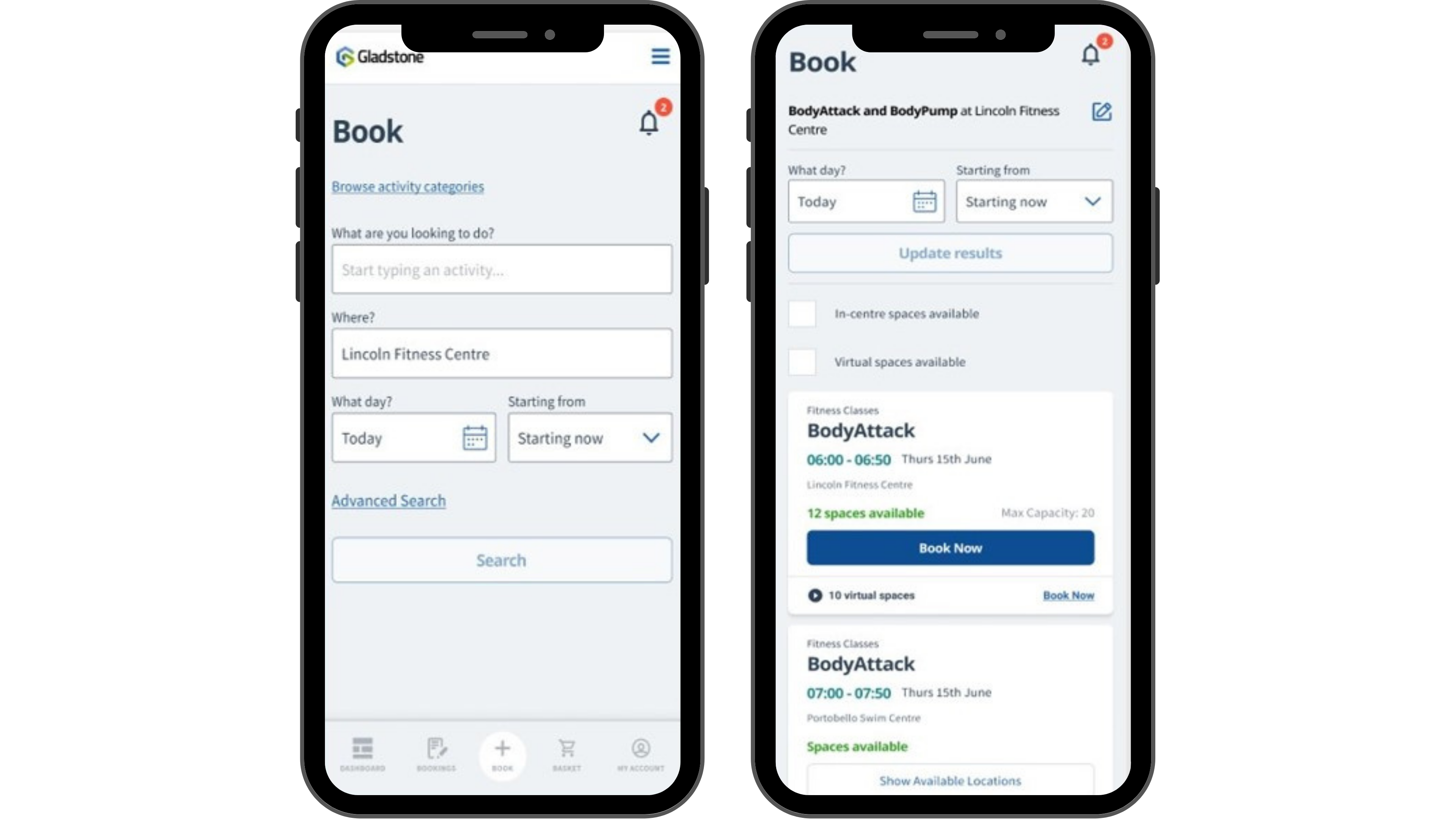 Go Book on Mobile Phone side by side